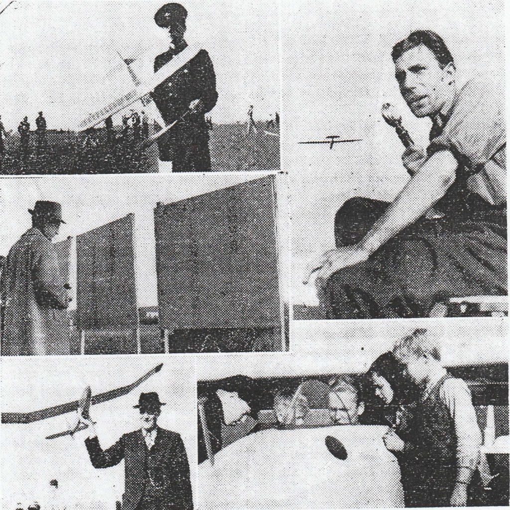 Bild på tidiga modellflygare