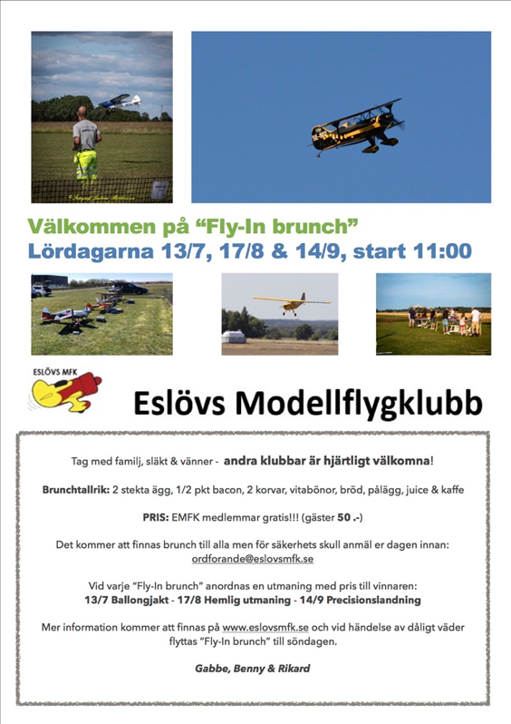 "Inbjudan ""Fly-In brunch"""